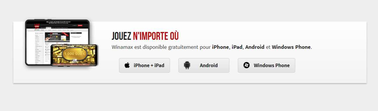 Telecharger Winamax appli Poker en ligne et Paris sportifs