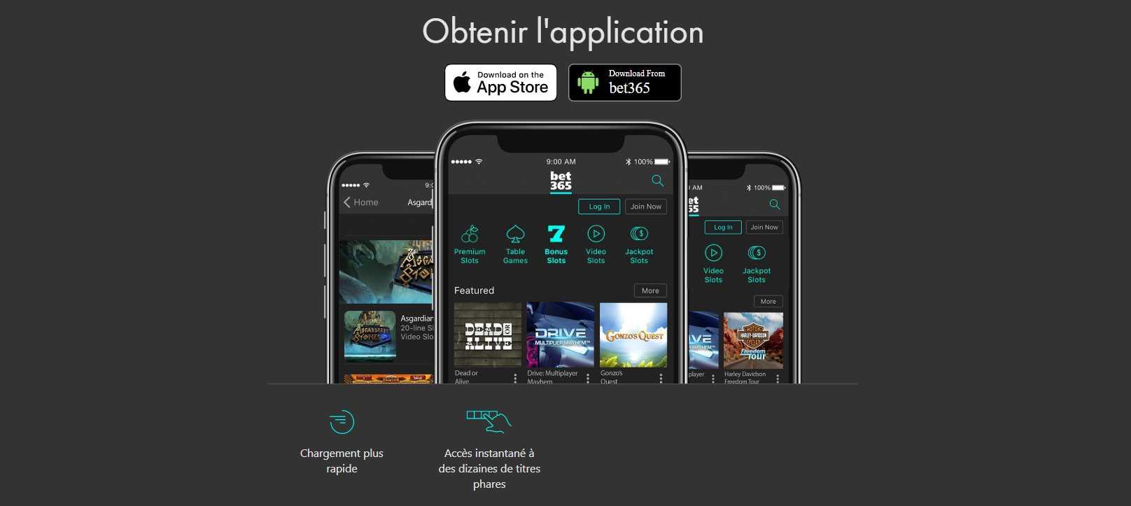 Obtenir l'application Bet365