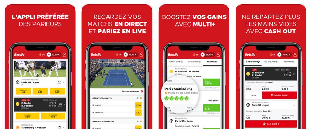 Betclic app paris sportifs